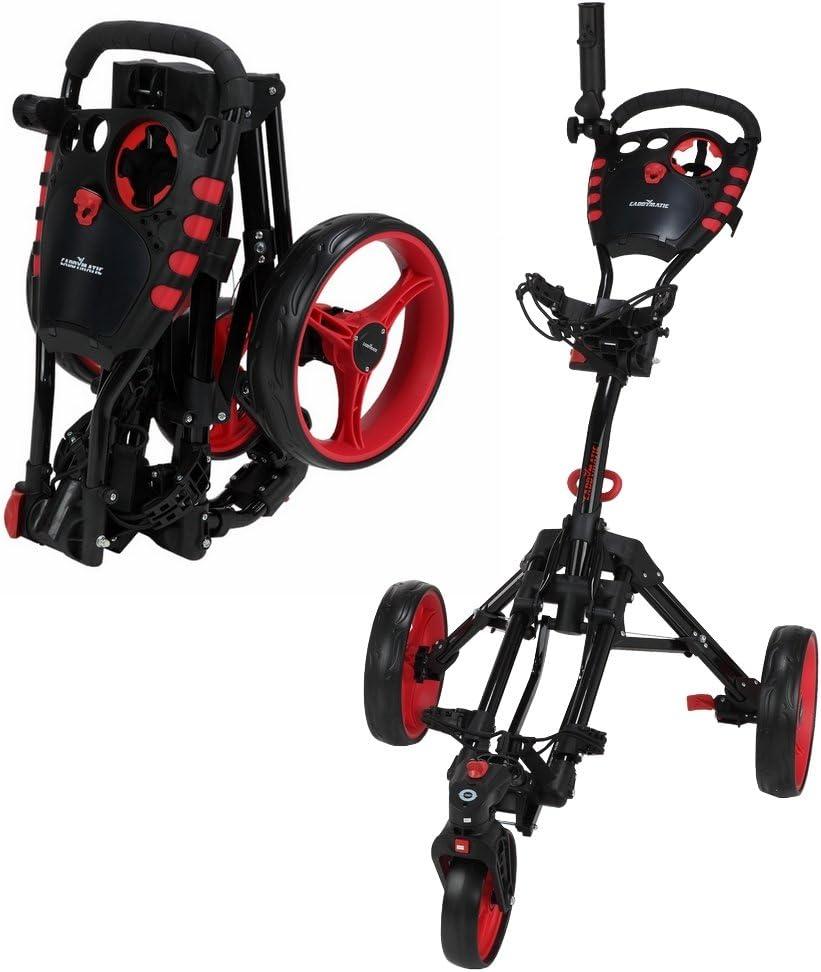 CaddyMatic Golf 360° Swivelease 3Roues Pliante Golf Cart