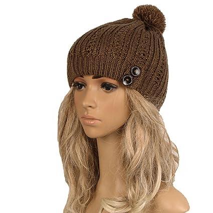 3f89cd22dcf Amazon.com   Clearance! Women Stylish Button Trim Slouchy Knitting ...