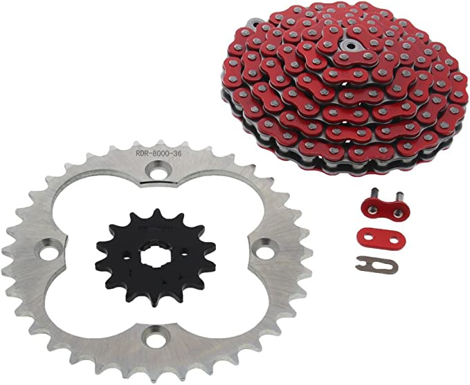 87-1990 Fits Honda FourTrax TRX250X 250X Gold O-Ring Chain /& Black Sprocket 12//38 86L