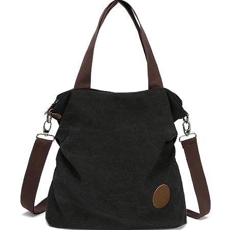 Myhozee Damen Canvas Handtasche - Umhängetasche Henkeltasche Schultertasche Messengertasche Crossover Bag für Mädchen Schule