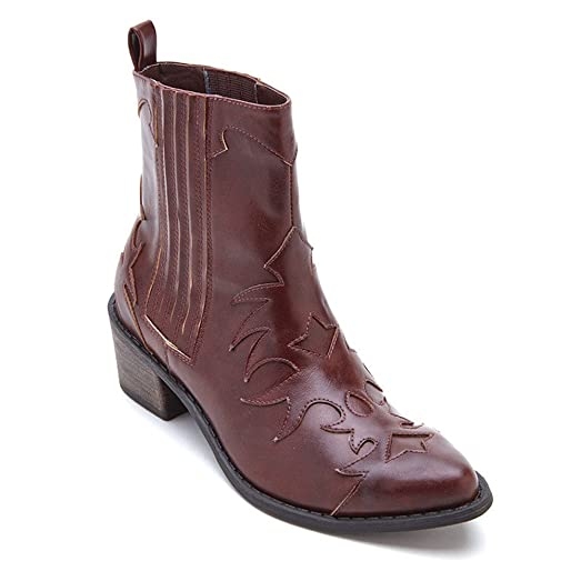 2017 In Line Coconuts Cassidy Cowboy Boot Brown