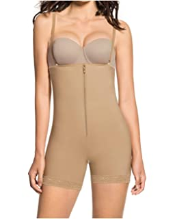 cf45d2afd5 Leonisa Women s Strapless Compression Bodysuit Slimming Shaper Short with  Booty Lifter