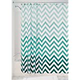 "InterDesign Ombre Chevron Soft Fabric Shower Curtain, 72"" x 72"", Mint/Multicolor"