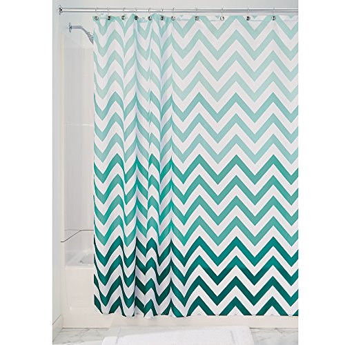 InterDesign Ombre Chevron Soft Fabric Shower Curtain, 72