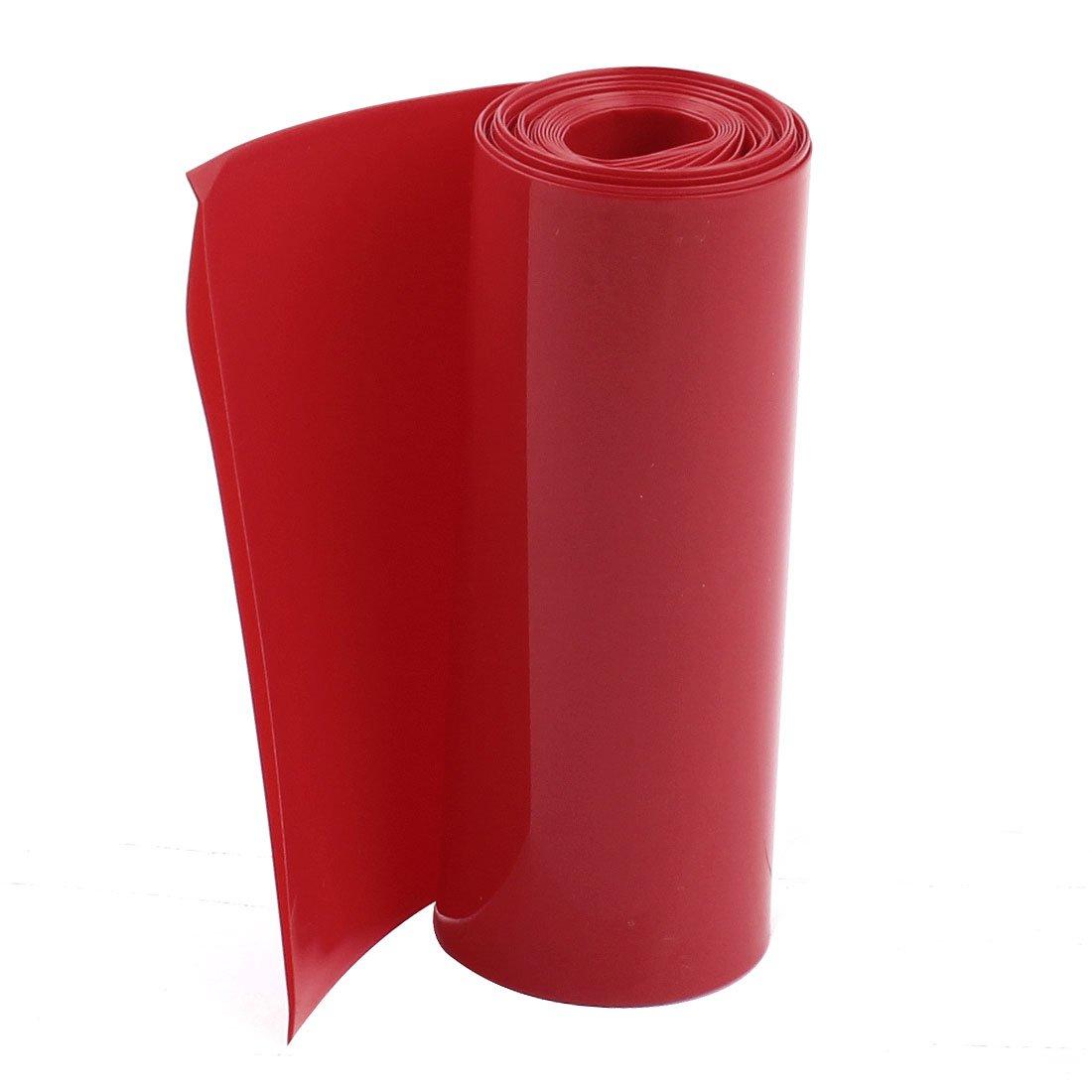 sourcingmap/® 2Meters 85mm Largeur PVC Thermor/étractable Housse Rouge pour 18650 Bloc-piles