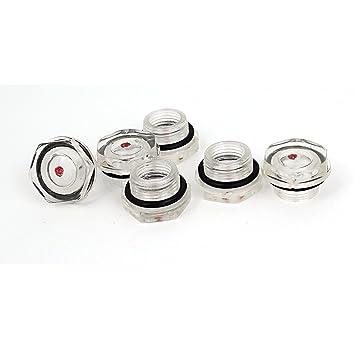 Compresor de aire de plástico de aceite de nivel de líquido Mirilla 6 piezas de 20 mm de hilo: Amazon.es: Bricolaje y herramientas