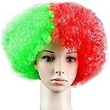 Portugal Football Fan Wig 2018 FIFA World Cup Wig Football Fan National Flag Wig Synthetic Hair