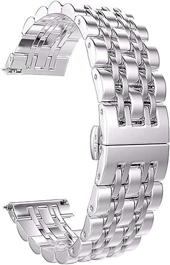 Reloj de pulsera de acero inoxidable de alto brillo de 6