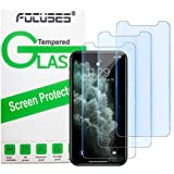 Focuses iPhone 11 Pro Screen Protector, iPhone Xs/X Screen Protector, Anti blue light Tempered Glass Film for Apple iPhone Xs