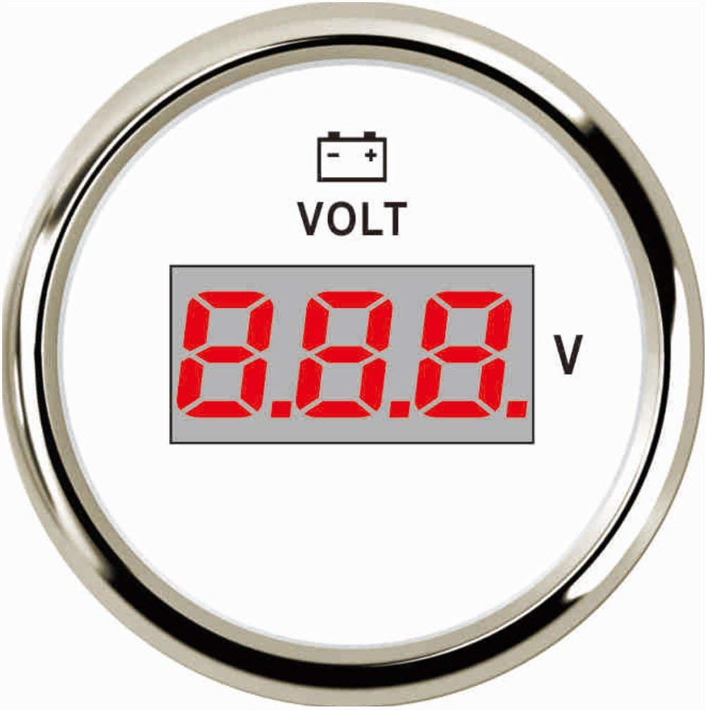 Samdo 52MM Universal Voltmeter Car Boat Digital Voltage Gauge 9-32V 2'' Motorcycle Truck Yacht Vessel by Samdo