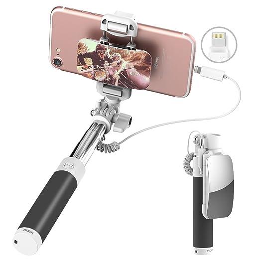 12 opinioni per ROCK iPhone 7 Bastone Selfie,Mini Selfie Stick con iPhone Lightning Controllo di
