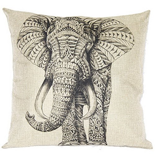 cute-grey-elephant-cotton-linen-decorative-throw-pillow-case-cushion-cover-18-x18-