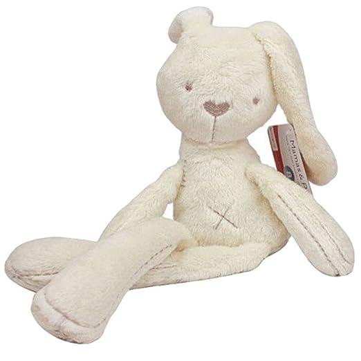 Lalang Baby Kaninchen Plüschtiere Spielzeug, Kleinkindspielzeug,Beschwichtigen Schlaf Spielzeug,Kinderwagen, der Spielzeugauto-Drehmaschine hängende