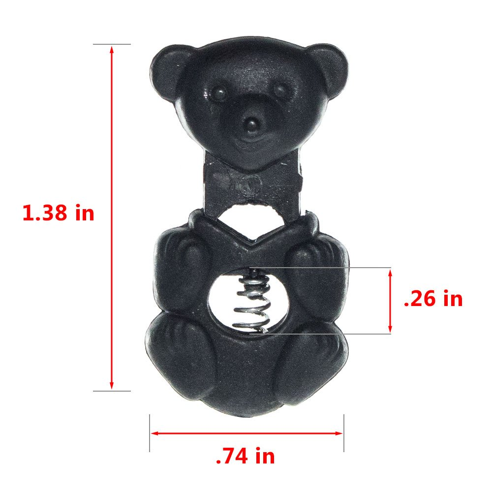 5 Available in Single and Wheel Designs 10 Cube Slider Bear and 20 Packs Turtle Cow Head Barrel Black West Coast Paracord Assorted Cord Locks