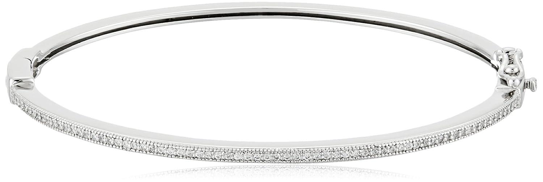 8f1dcbf91 Amazon.com: Crislu Esteemed Elegance Sterling Platinum Cubic Zirconia  Classic Latch Bangle Bracelet: Jewelry