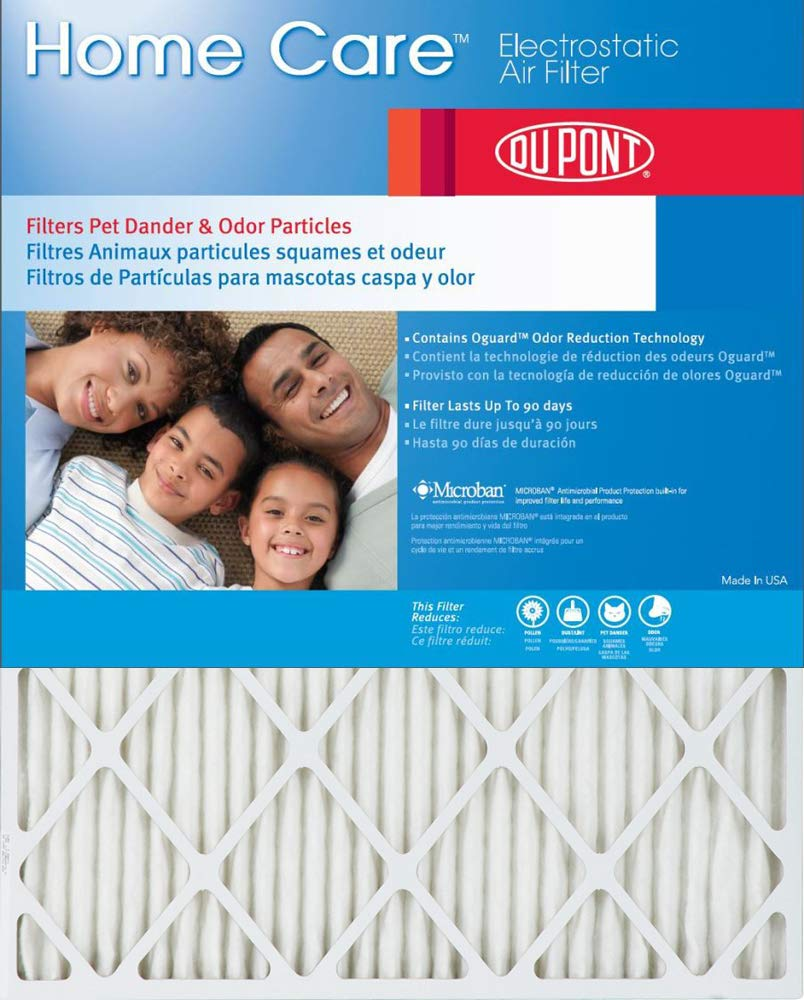 Dupont Home Care 20x25x1 MERV 8 Air Filters (2 Pack)