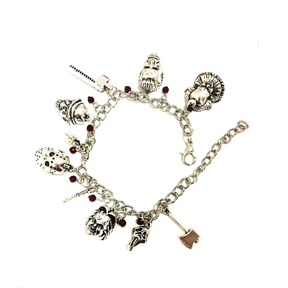 Blingsoul Chucky Charm Child Bracelet - Horror Jewelry Movie Merchandise Gifts Collection for Women