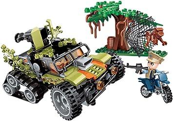 Q-Man Ingenious Juguetes / II Guerra Mundial Militar Jeep Acorazada Vehículo con 3 Minifiguras Nuevo Juego de Caja / 415pcs Set Construcción #H2035: Amazon.es: Juguetes y juegos