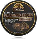 Polished Edges Black Jamaican No Flaking All Day Hold Edge Control For Hairline,Sideburns Silicone,Paraben Free For All…