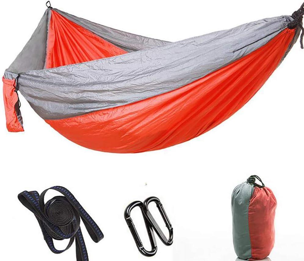 TTIK Hamaca Ultraligera para Camping 300Kg De Capacidad De Carga, Estilo Paracaídas De Nylon Portátil Y Ligera para Mochileros, Senderismo,(300 X 200 Cm)