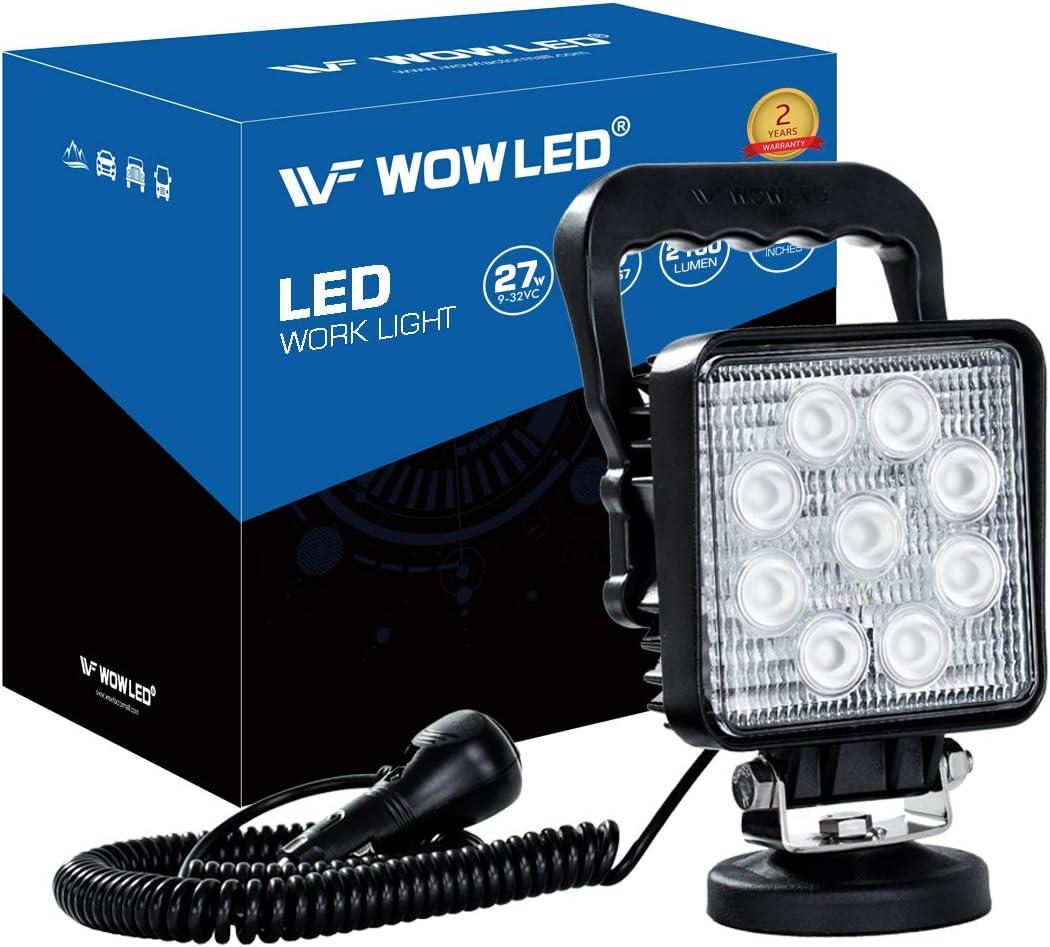 CC 9-32 V Wowled Lampe de travail portable 27/W