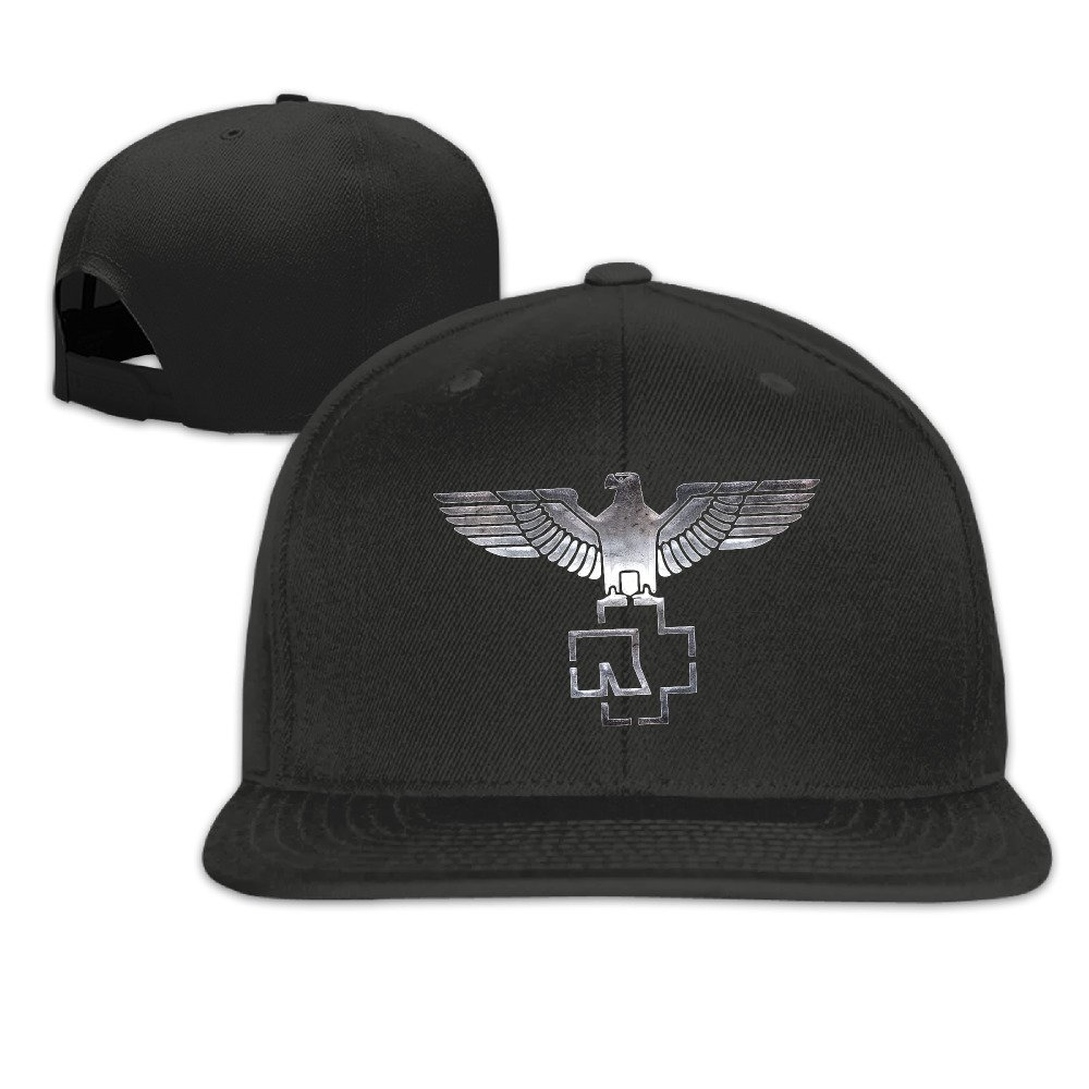 RiPoLo Rammstein Band Fitted Flat Brim Baseball Cap Hat