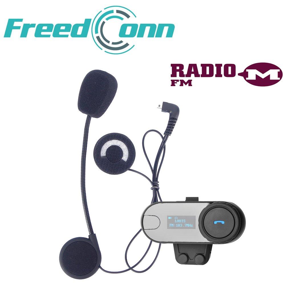 FreedConn TCOM SC Casco de la motocicleta Bluetooth Intercomunicador Soporta  jinetes