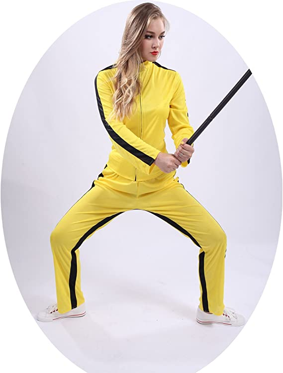 SEA HARE Kungfu Vestido Amarillo Bodysuit (Mujer): Amazon.es ...