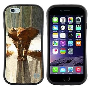 "Pulsar iFace Series Tpu silicona Carcasa Funda Case para Apple (4.7 inches!!!) iPhone 6 Plus / 6S Plus ( 5.5 ) , Polígono Increíbles Beautiful Animals"""
