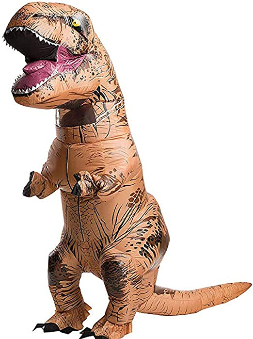 DEARLOYEA Inflatable Dinosaur Costume Adults Man Women Halloween Blowup Outfit Cosplay