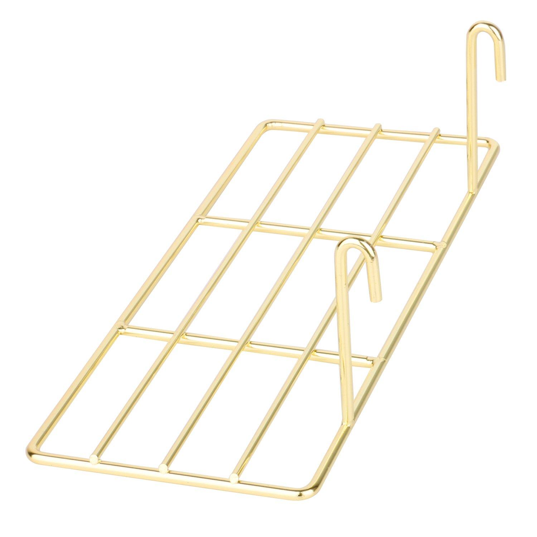 Simmer Stone Gold Straight Shelf for Wire Wall Grid Panel, Flower Pot Display Shelf Rack, Wire Organizer Storage for Wall Decor, Size 9.8'' L x 3.9'' W