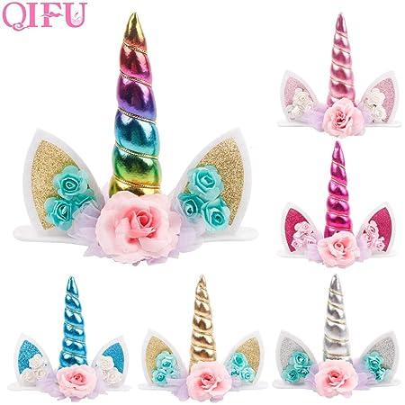 Decoración para tarta de unicornio con diseño de unicornio ...