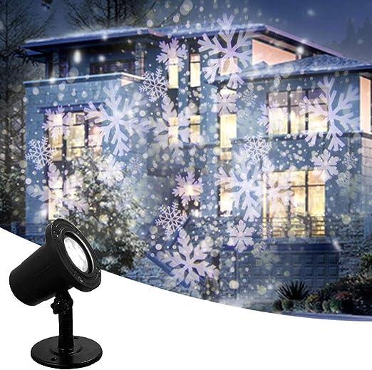 KYL Navidad de la luz del proyector Moving día de fiesta del ...