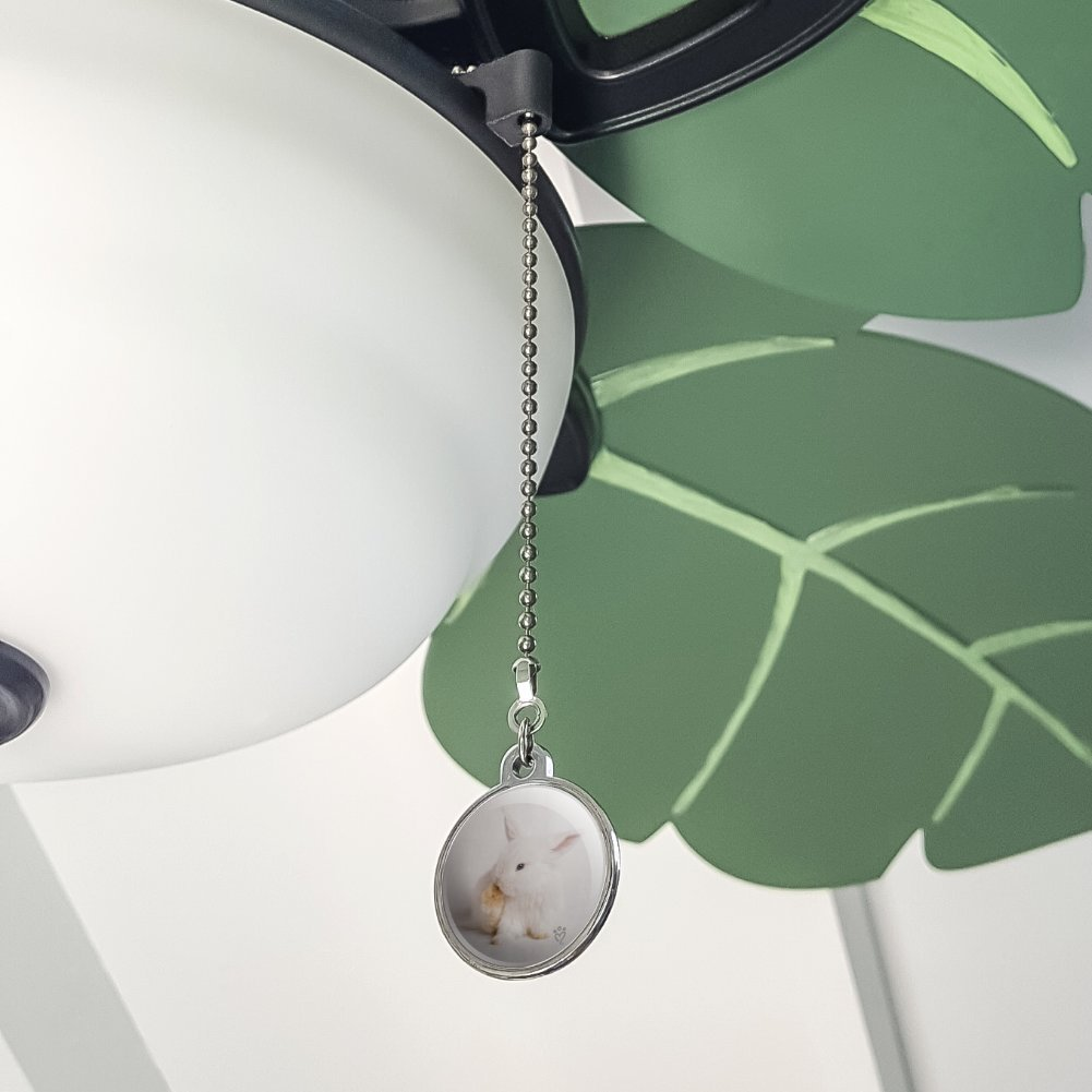 GRAPHICS /& MORE Lop Ears Miniature Bunny Rabbit Ceiling Fan and Light Pull Chain