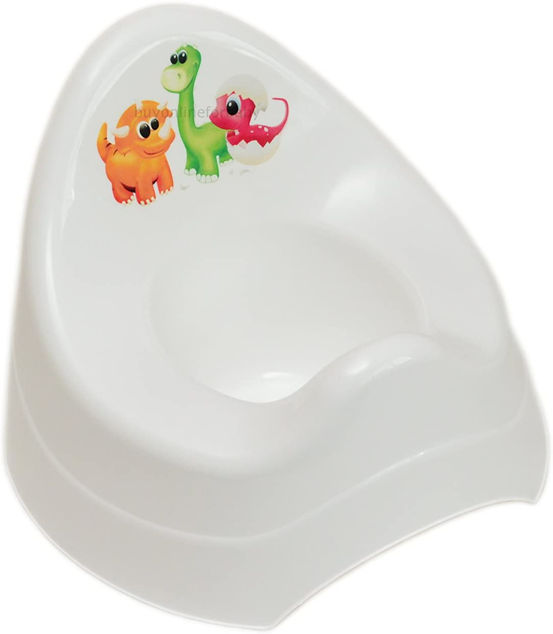 B/éb/é Enfants Plastique Pot Abattant de WC dentra/înement dentra/înement de WC Blanc Dino
