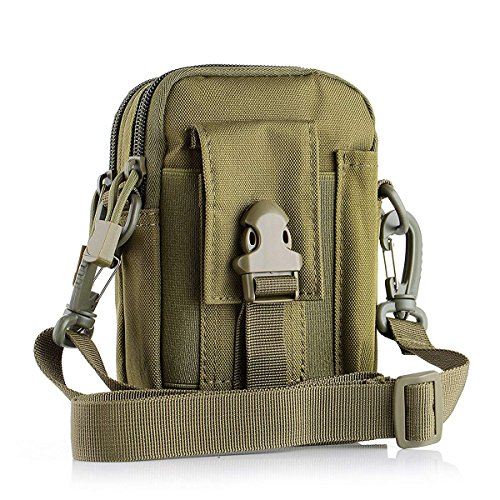 Tactical Molle Waist Bags, Waterproof Pouch, Universal Men's Outdoor Sport Casual Waist Pack Coin Purse Gear Holster Utility Pouch Phone Case ()