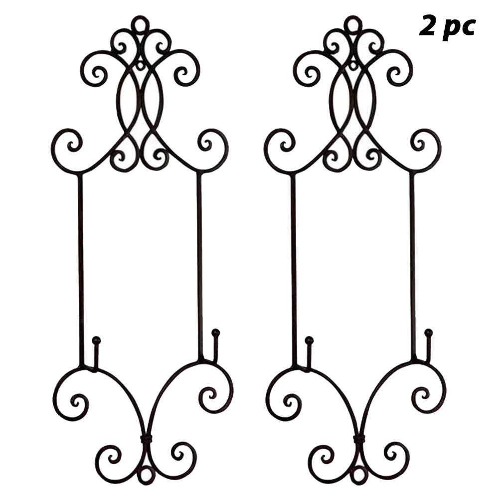 TRIPAR 2PC Chelsea Collection Wall Rack for Plates and Artwork 22.25'' H (2 Pack)