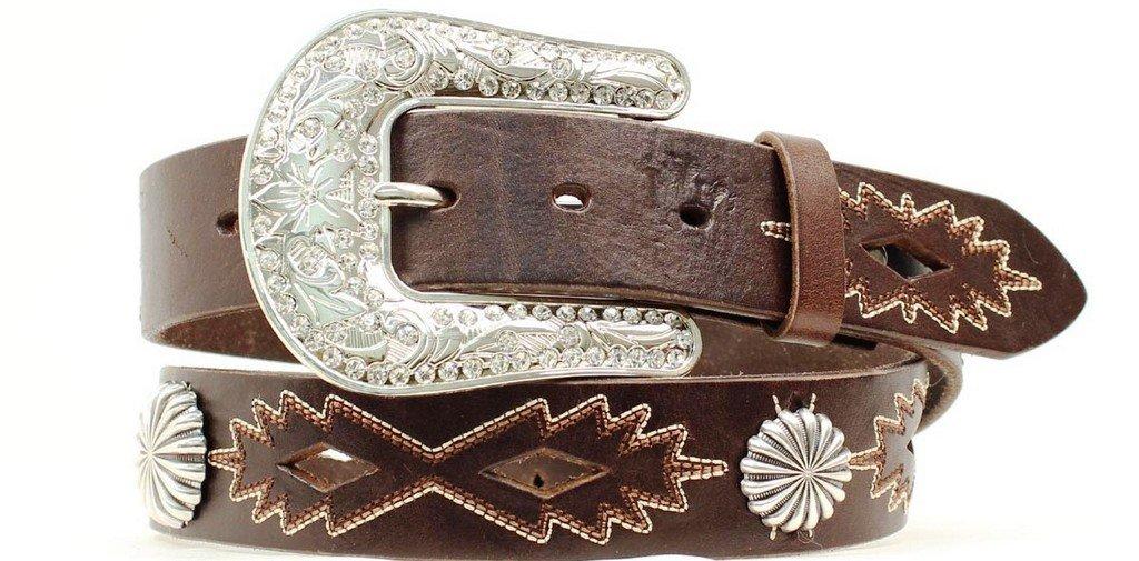Nocona Women's Cut Out Southwest Design Belt, Brown, S