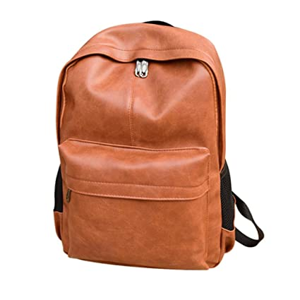 Cinhent Backpacks Men s Women s Business Laptop Computer Notebook Satchel  Leather Backpack Travel School College Students Rucksack 9840884bc5c2a
