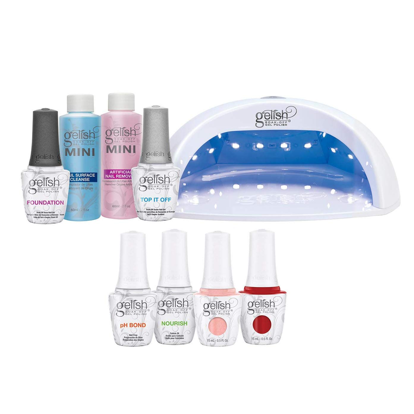 Ml Pro Polish Nail Salon Led Gelish Kit Off Gel Set15 Professional BxWdCroe