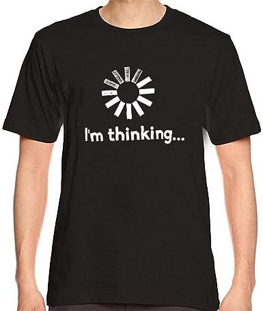Camisa con Estampado Divertido De De Los Hombres Comercio Camisa Corta Camiseta Años 20 Blusa Pienso Camiseta De Manga Corta Cuello Redondo Camiseta Básica Camiseta Tops: Amazon.es: Ropa y accesorios