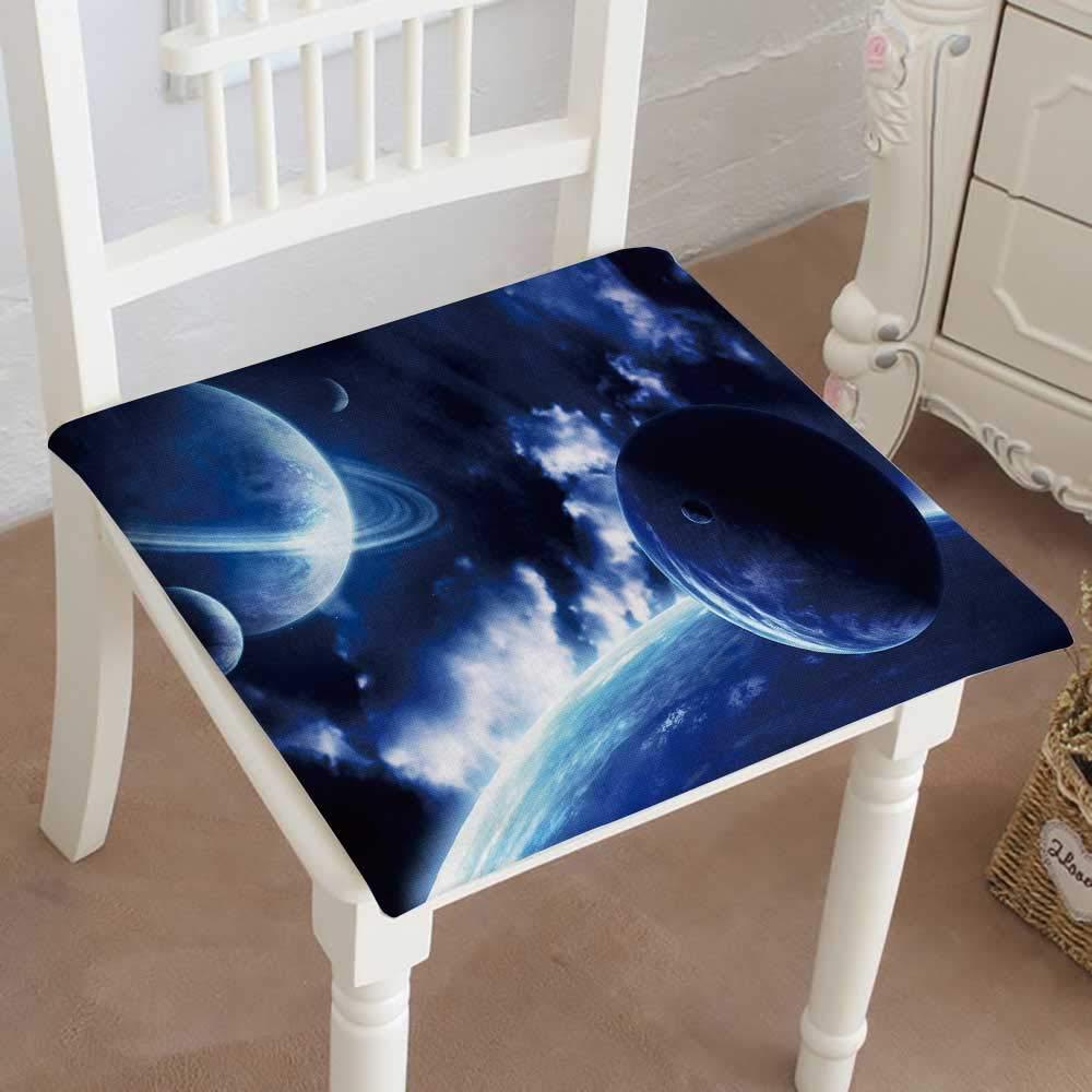 Mikihome 低反発素材チェアパッド 宇宙の景色 惑星と星雲のクッション 屋内 送料無料カード決済可能 海外輸入 屋外用 14インチ 22