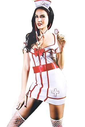 f800987650060f Amazon.com  ScarvesMe Sexy Nurse Costume Heart Breaker Back Dress ...