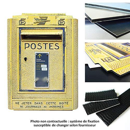 Vertikale D/écoration Murale Objet D/éco Bo/îte aux Lettres Fran/çaise R/étro Jaune Trompe loeil 40 x 30 cm