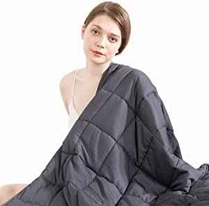 8b35d3b2924dd ENTER Beauty Kate Weighted Blanket Adult (15 lbs - 60x80 - Queen Size),  Premium Heavy Blanket for Improved Sleep, 100% Soft Breathable Cotton with  Glass ...