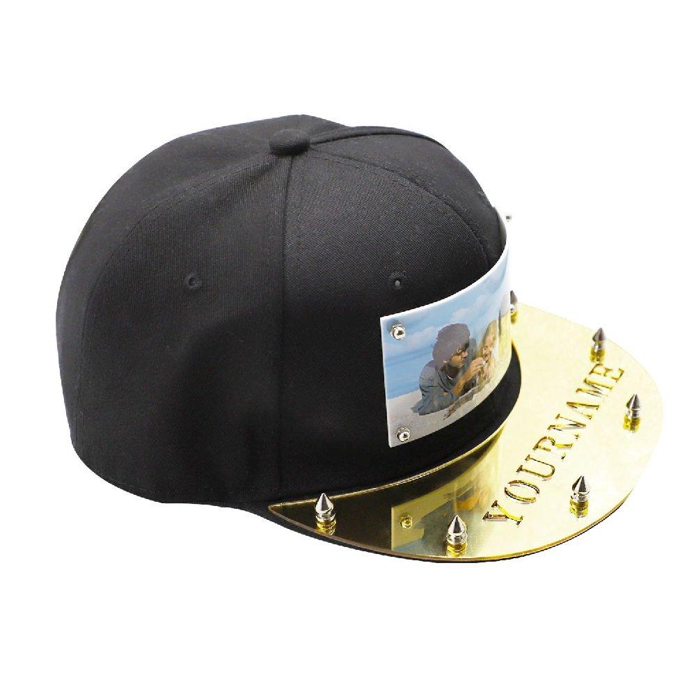 Nombre Logotipo Estampados con Sombrero Personalizado en la Placa de acrílico  Gorras de béisbol Ajustables de Snapback  Amazon.es  Ropa y accesorios 2186f8adf22