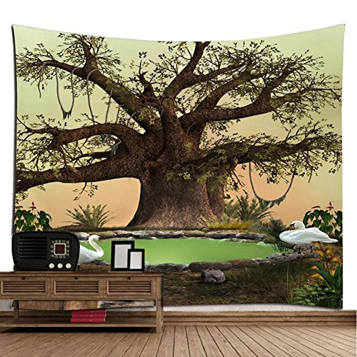 Tree Of Life Tapestry Wall Decor, The Old Tree Trunk Wrapped