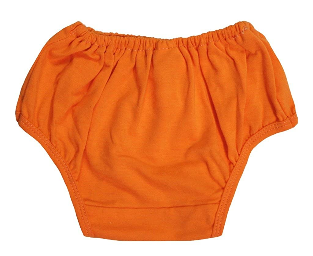 Petitebella Dress Plain Orange Cotton Bloomer for Baby 6-24m NF00002
