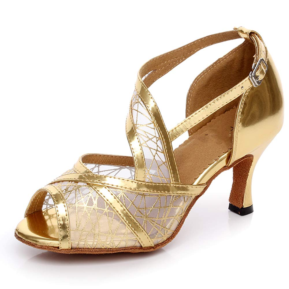 XIAOY Leder PU Kreuz Gurt Peep Toe High High High Heel Latein Tanzschuhe für Damen 8.5CM B07MV38CTD Tanzschuhe Jahresendverkauf 45661c