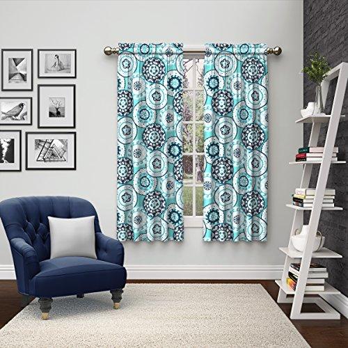 Eclipse 15616056X063BLU Bradway Window Curtains (2 Pack), 56″ x 63″, Blue